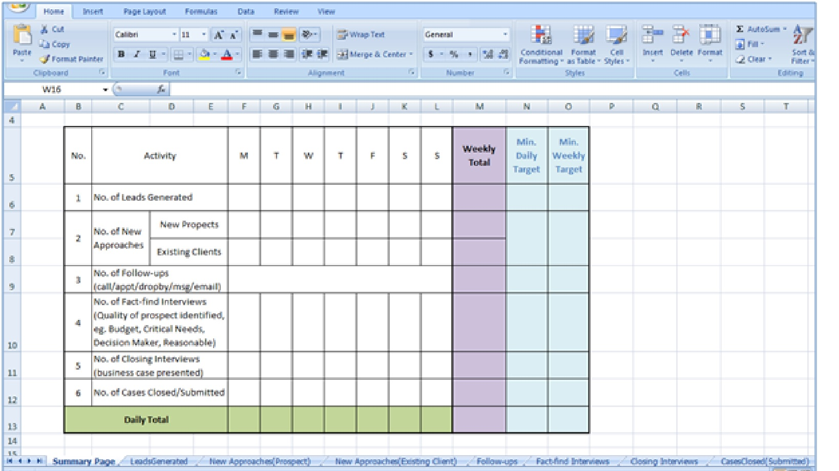asian sales guru asg sales activity management matrix